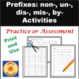 Prefixes Worksheet & Sorting Activity:  Non-, Dis-, Un-, Mis-, and Bi-