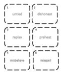 Prefixes Write the Room Activity