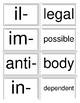 Prefixes and Root Words