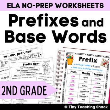 Prefixes and Base Words No Prep Printables