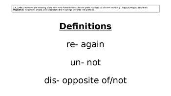 Prefixes and Root Words Power Point