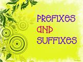 Prefixes and Suffixes - Green Swirls (EDITABLE)