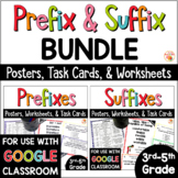 Prefixes and Suffixes Distance Learning Worksheets, Activities, & Posters BUNDLE