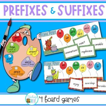Prefixes and Suffixes Games
