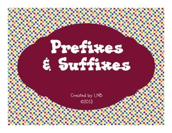 Prefixes and Suffixes Activities