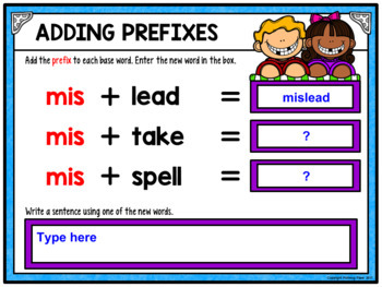 Prefixes and Suffixes Activity Bundle for Google Drive and Google Classroom