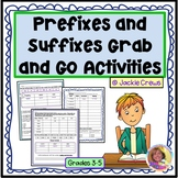 Prefixes and Suffixes Grab and Go Practice Pages