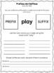 Prefixes and Suffixes Center Activity - Building Words