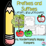 Prefixes and Suffixes: Centers and Worksheets [[Back to Sc
