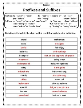 root words prefixes and suffixes worksheet prefixes and suffixes chart 5. Black Bedroom Furniture Sets. Home Design Ideas
