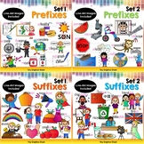 Prefixes and Suffixes Clip Art Bundle