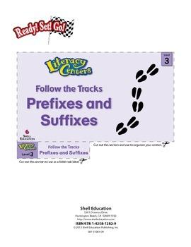 Prefixes and Suffixes--Follow the Tracks Literacy Center (eLesson)