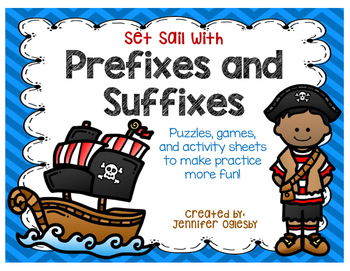Prefixes and Suffixes:  Games, puzzles, and activity pages
