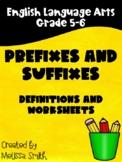 Prefixes and Suffixes Grades 4-6