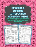 Prefixes and Suffixes Interactive Notebook Pages