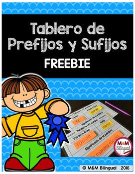 Prefixes and Suffixes Mat {SPANISH}