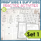 Prefixes and Suffixes Practice Activities