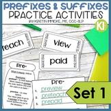 Prefixes and Suffixes Practice Activities SET 1
