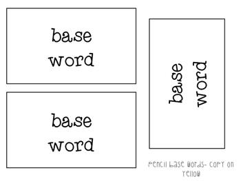Prefixes and Suffixes Pencils
