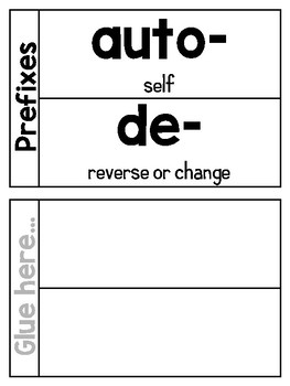 Prefixes and Suffixes - Posters, Interactive Notebook Pages, and More!