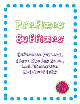 Prefixes and Suffixes Posters and Games