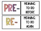 Prefixes and Suffixes Posters and Matching Activity-BONUS worksheet