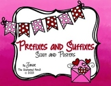 Prefixes and Suffixes Posters and Scoot {Valentines Day}