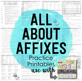 Prefixes and Suffixes Practice Printables