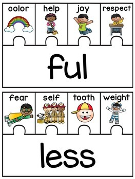 Prefixes and Suffixes Puzzles