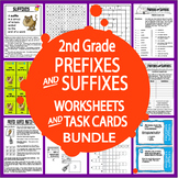 Prefix and Suffix Activities & Task Cards Bundle + 9 Prefix & Suffix Worksheets