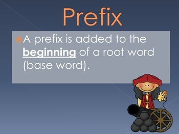 Prefixes and Suffixes Slideshow and Anchor Charts