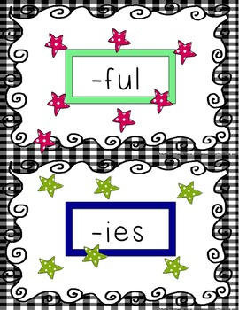 Prefixes and Suffixes Sort Grades 2-3
