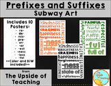 Prefixes and Suffixes: Subway Art Posters