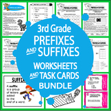 Prefix & Suffix Activities and Task Card Bundle + 16 Prefix & Suffix Worksheets