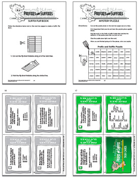 Prefix & Suffix Activities and Task Card Bundle + 16 Prefix & Suffix Worksheets