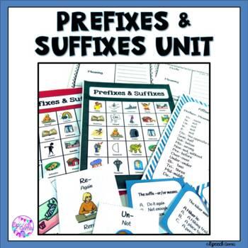 Prefixes and Suffixes Unit