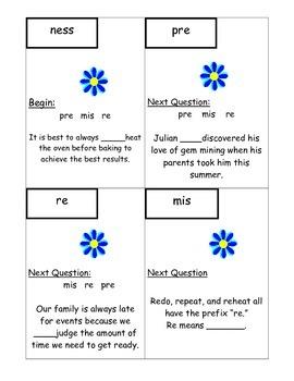 Prefixes and Suffixes Vocabulary Scavenger Hunt L.4.4