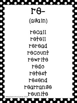 Prefixes and Suffixes (Word Lists and Games for 23 Affixes!)