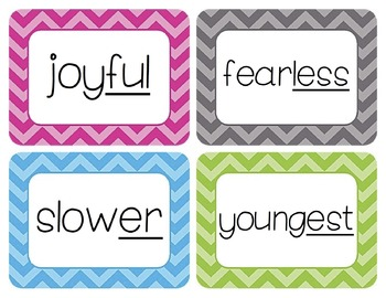 Prefixes and Suffixes Word Wall Cards Bundle
