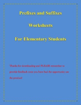Prefixes and Suffixes Worksheets for Third Grade and Above