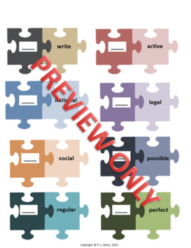 Prefixes and Suffixes Workshop