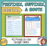 Prefixes and Suffixes and Roots Google Classroom for Dista