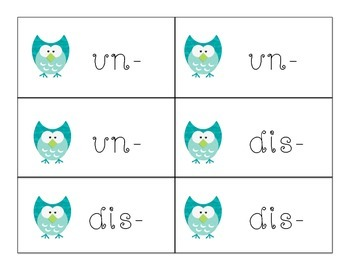 Prefixes and Suffixes are Such a Hoot!