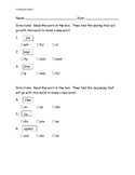 Prefixes and Suffixes pre/post assessment ITBS style
