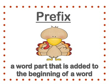 Prefixes and Suffixes....A Thematic Unit