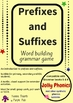 Prefixes and suffixes cards for extended grammar activities.