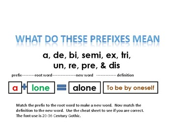"""Prefixes --and the meaning of words that have """"ex"""" and """"tri"""" as a prefix"""