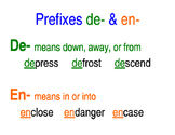 Prefixes de- and en- Poster