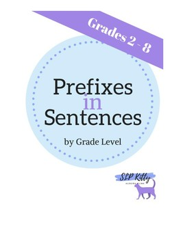 Prefixes in Sentences *with visual*