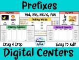 Prefixes (mis, mid, micro, non) Digital Centers